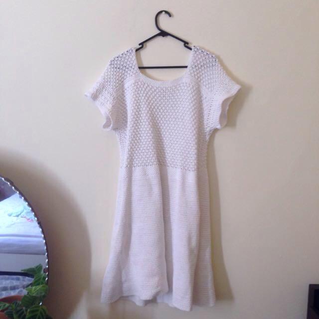 Vintage Crochet Midi Dress