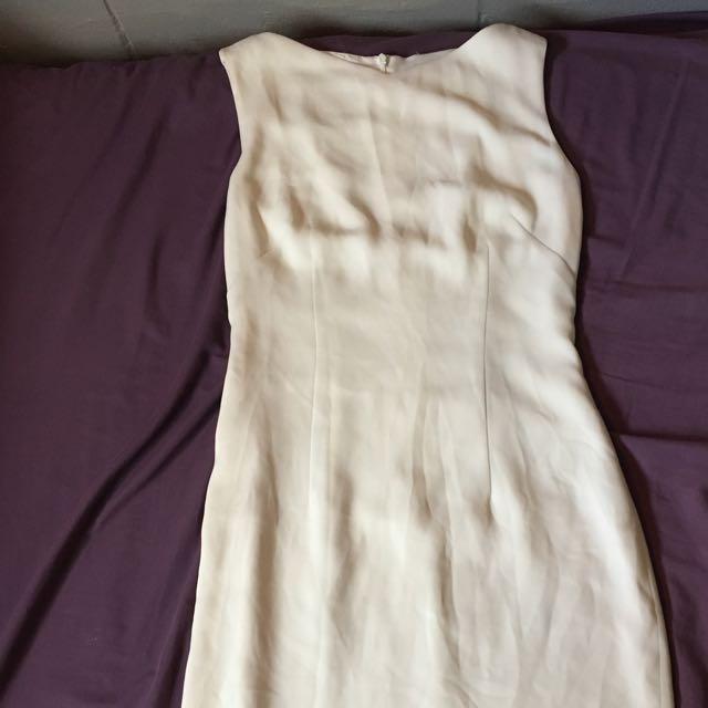 Vintage Dress Midi Chiffon
