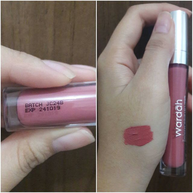 Wardah Exlusive Matte Lip Cream 03 See You Latte