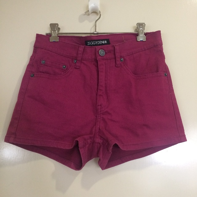 Ziggy Denim purple high waisted denim shorts