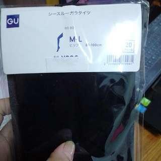 (全新)UNIQLO副牌GU 小朋友黑色點點絲襪