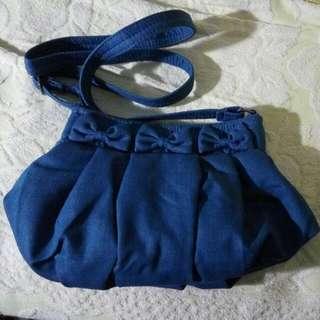 Sweet Ribbon Denim Bag