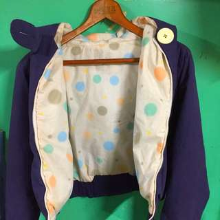 💙a la sha💙保暖 袖長版 大鈕扣厚外套(靛色)💕