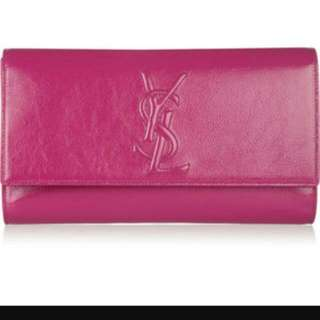YSL PATENT LEATHER CLUTCH LARGE