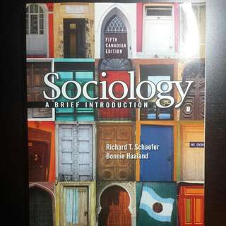 Canadian Law An Intro 6th Edition/ Sociology A Brief Intro 5th Edition/ Psychology Frontiers And Application 4th Edition