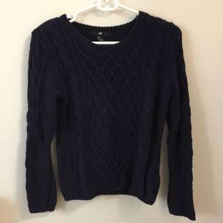 H&M Navy Blue Sweater