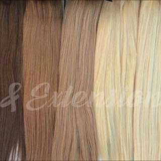 Clip In And Tape In Extensions 100% European REMY Human Hair