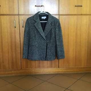 REDUCED SALE Calvin Klein Charcoal Grey Moro Jacket Blazer Coat