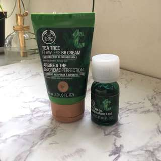 The Body Shop Tea Tree BB Cream And Tea Tree Oil