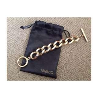 Mimco Gold Nebula Chain Bracelet