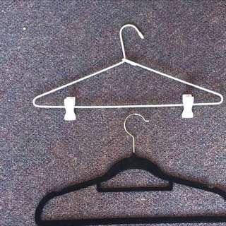Velvet Hangers + white hangers