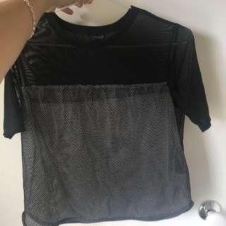 Black mesh TopShop Top