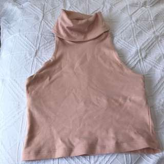 Kookai Turtle Neck Crop Top