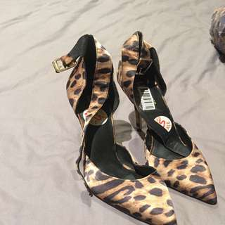 Leopard Print Lipstick Shoes