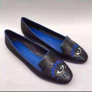 🚚 [庫存出清]Kenzo Eye 牛皮平底樂福鞋
