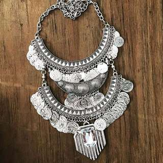 Large Silver Necklace