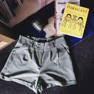Miss Selfridges Khaki Shorts