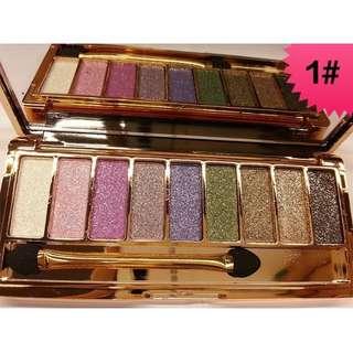9 Colors Diamond Bright Colorful Makeup Eye Shadow