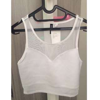 H&M CROPTOP IN WHITE