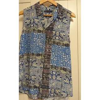 Sportscraft Current Season 'Blair' Print viscose blouse 12