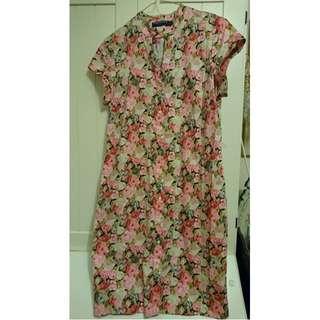 Sportscraft Liberty Rose print Cotton dress 14 no sash, excellent