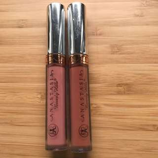 Anastasia Liquid Lipsticks In Crunch and Ashton