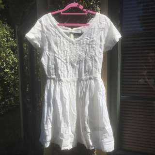 White Glassons Dress