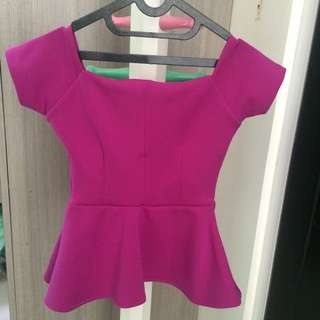 SABRINA TOP IN PURPLE  SIZE S