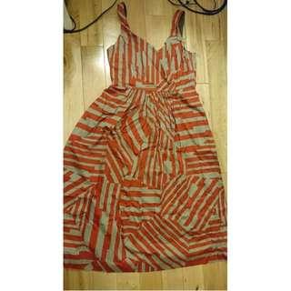 Morrison Melbourne Designer 100% cotton midi dress with pockets XS