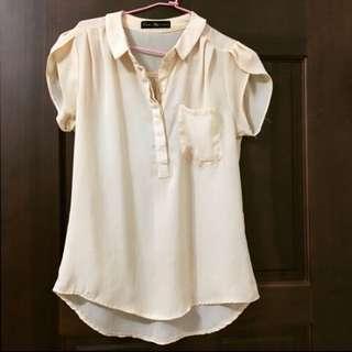 Queenshop雪紡襯衫(內有兩款)