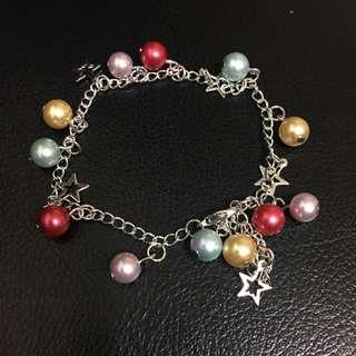 彩色珠珠 星星手鍊