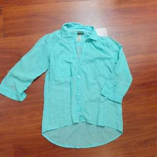 Bershka Shirt Blue