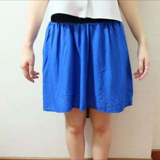 Bershka Skirt Blue