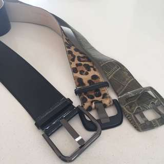 Cue Veronika Maine LEATHER Belts!!! Worth $129 Each!!! Size s