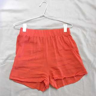 Mika & Gala (size 8)- Orange High Waisted Shorts