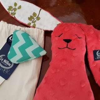 🔴聖誕特價[全新]La Millou 豆豆安撫兔-粉紅棉花糖  小隻尺寸#我的嬰幼可超取