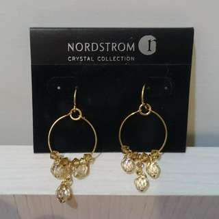 【全新】美國專櫃品牌 黃水晶純銀(金) 耳環一副 🐥
