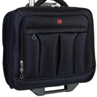 "Swiss Gear 15.6"" Polytex Mobile Office Wheeled Case, Black - $90"