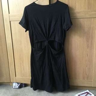 Cotton On Cut-Out Front Tee Shirt Dress Size Small