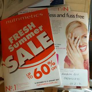 Nutrimetics Consultant #1 Skincare Range In The World