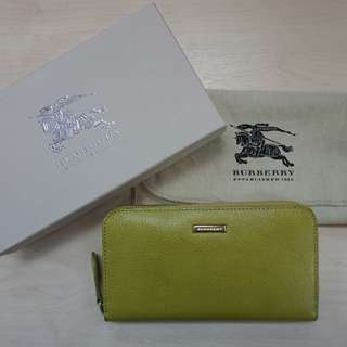 Burberry Olive Zip around Wallet