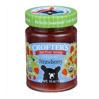 加拿大 Crofter's Organic 有機草莓果醬  10盎司(283克 )