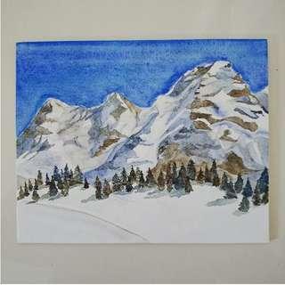 Snow on the Alps