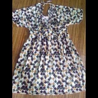 'Mille Ferme' Pattern Dress