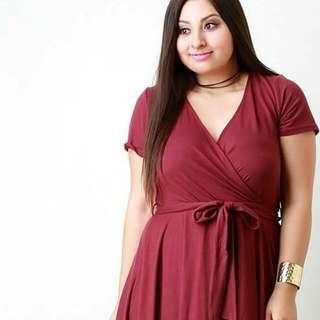 Plus Size Ribbon Dress