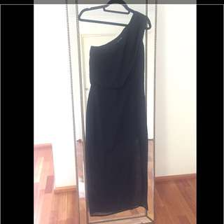 Black Sheike Evening Dress