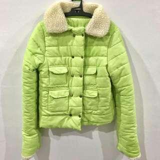 保暖外套  亮綠色
