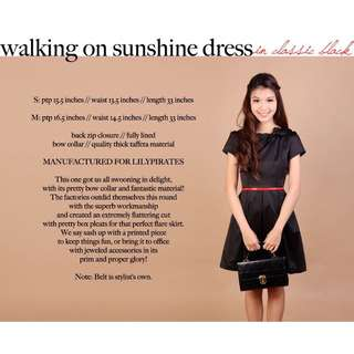 Lilypirates Walking On Sunshine Dress in Classic Black [M]