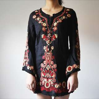 Exquisite Embroidered Dress / Long Top