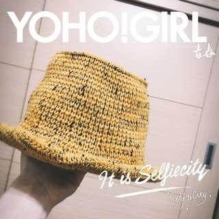 黃色毛線帽